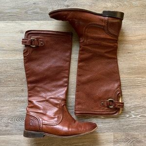 FRYE Paige Trapunto Leather Boots size 9